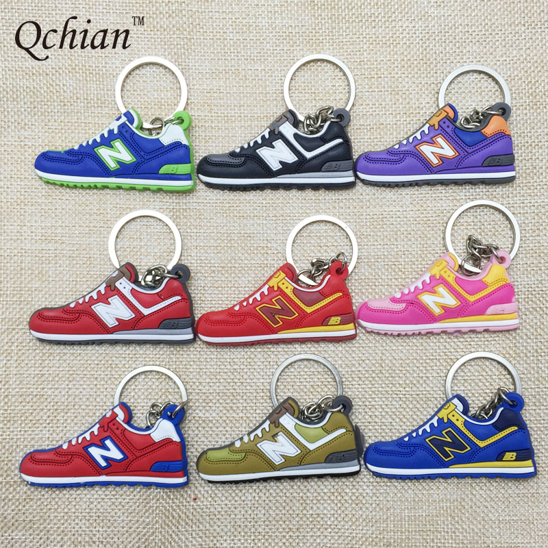 Hot Sale New Balanceer 574 Keychain Women Sneaker Shoes Key Chain Cute Key Ring HolderChaveiro llaveros porte clef sleutelhanger