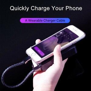 Image 2 - עור צמיד USB טלפון מטען כבל מיקרו USB סוג C נתונים סנכרון קצר Kable מהיר טעינה עבור Xiaomi סמסונג S10 תשלום חוט