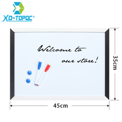 XINDI 35*45cm pizarra magnética tablero de dibujo MDF negro y marco de madera blanco tablero blanco decorativo para negocios WB09