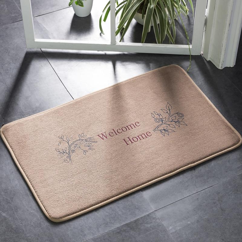 Us 7 79 35 Off European Welcome Bathroom Doormat Super Soft Non Slip Bath Carpet Water Absorbing Mat Rug Entrance Door In Mats
