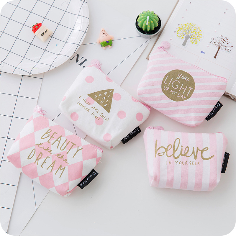 SUQI Canvas Women mini Coin Purses Casual Solid Zipper Standard Short Polyester Wallets cute girl kawaii money bag monedero