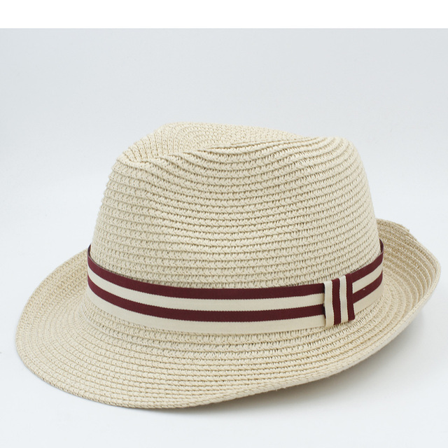 Moda mujer hombres verano paja Sol sombrero para la señora elegante playa sombrero  Sol Caballero sombrero 590c1aab4d7