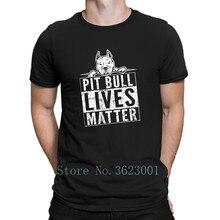 dc9c2b453c Create Normal T Shirt Homme Pitbull Pit Bull Lives Matter T-Shirt For Men  Humor