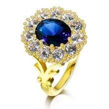 купить Gold Color 8x10MM Natural Aquamarine 925 Silver Rings For Women Men Luxury Jewelry Ring Wedding Anniversary Party Gift Wholesale по цене 325 рублей