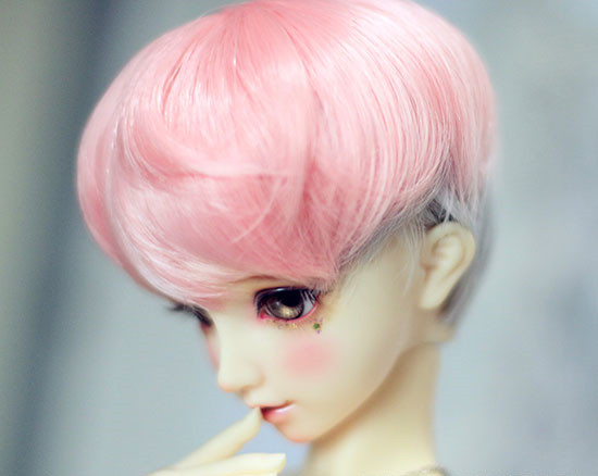 Dashing Bjd Doll Wigs Pink Silver-gray Mixed High-temperature Wire Short Wigs For 1/3 Bjd Dd Sd Doll Natural Small Curly Wigs