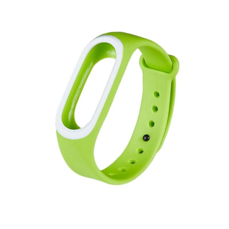 Силиконовые Красочные Браслет спорта ремешок для Xiaomi Эй плюс Smartband - Цвет: GN