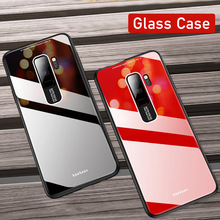Mirror PC+TPU+Plexiglass Glass Phone Case For Samsung S8 S9 S10 Plus Note 8 9 Soft Edge S10Lite Plain Cover Coque New