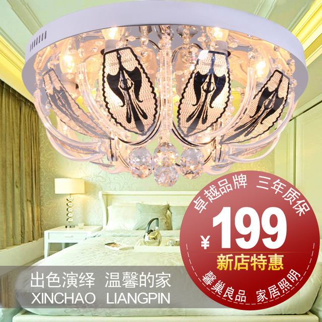 Lighting lamps led crystal lamp living room circle ceiling light modern fashion