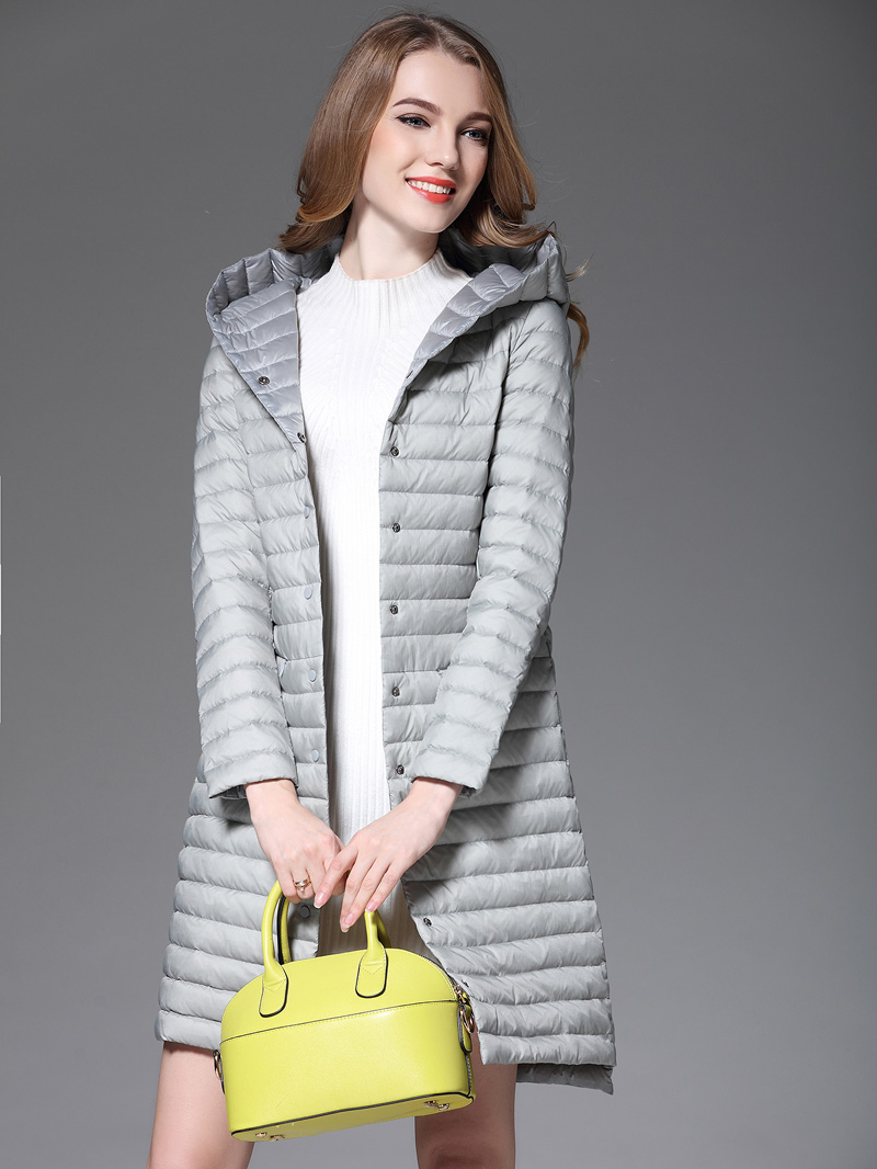 Parka Coat Woman White Duck Down Long Jacket Female Hooded Ultra Light Padded Jackets Winter Long Coat Fashion Parkas Solid-in Down Coats from Women's Clothing    2