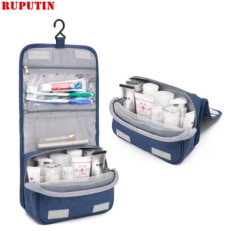 RUPUTIN Women Travel Cosmetic Bag High Quality Portable Cover Case Cosmetic Organizer Makeup Bags Toiletry Bag Hanging Wash Bag