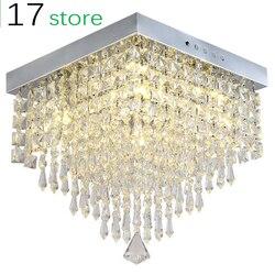 Prostokątny salon LED drzwi balkonowe kreatywnych kryształ lampa sufitowa