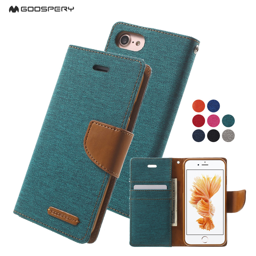 Mercury Goospery For Iphone 7 7plus Case Canvas Wallet Leather Samsung Galaxy S6 Diary Navy 4 4s 5 5s Se 6 6s Plus Cover Capa Flip Coque In Cases From