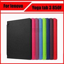 3 en 1 de lujo litchi patrón de cuero de la pu case cubierta para lenovo yoga tab 3 850f yt3-850f yt3-850m yt3-850l + película de pantalla + Stylus