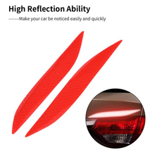 2pcs Car Stickers Warning Sticker Light Eyebrow Motorcycle Truck Reflective Safety Auto Products Accesso
