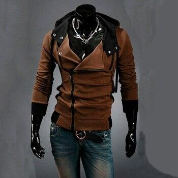 2018 Casual Cardigan Men Hoodie Sweatshirt Long Sleeved Slim Fit Male Zipper Hoodies Assassins Creed Jacket Plus Size M-6XL 1