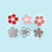 DUOFEN METAL CUTTING DIES 020184 3pcs small cherry blossoms layered embossing stencil DIY Scrapbook Paper Album 2018 new