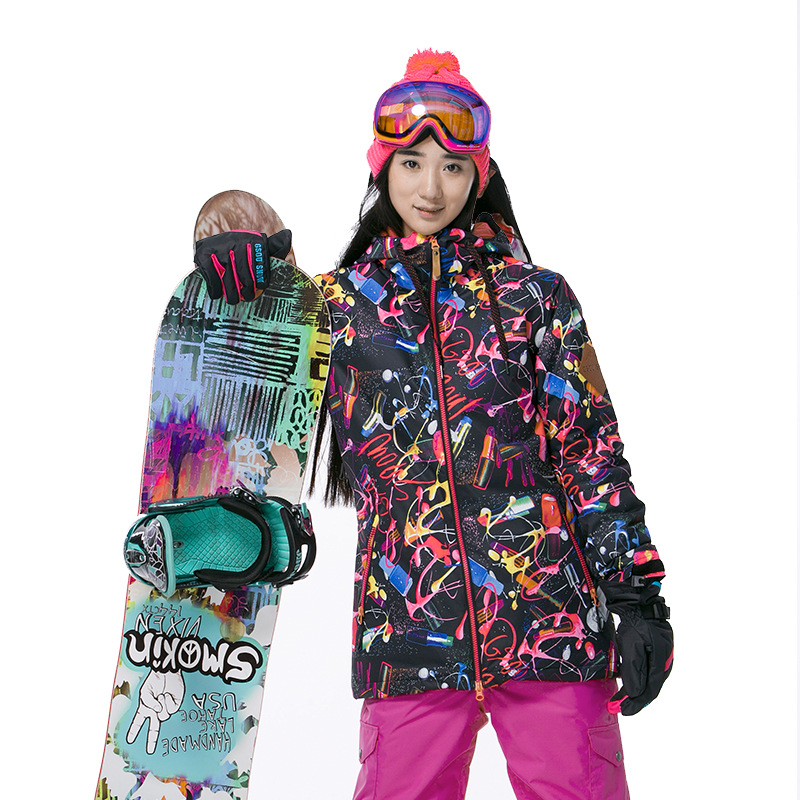 Gsou Snow new arrival Women Windproof Ski Jacket colorful Mountain snowboard suit Waterproof winter sport coat 1502-053 цена