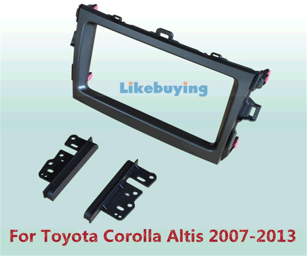 ФОТО 2 Din Car Frame Dash Kit / Car Fascias / Mount Bracket Kit For Toyota Corolla Altis 2007 2008 2009 2010 2011 2012 2013