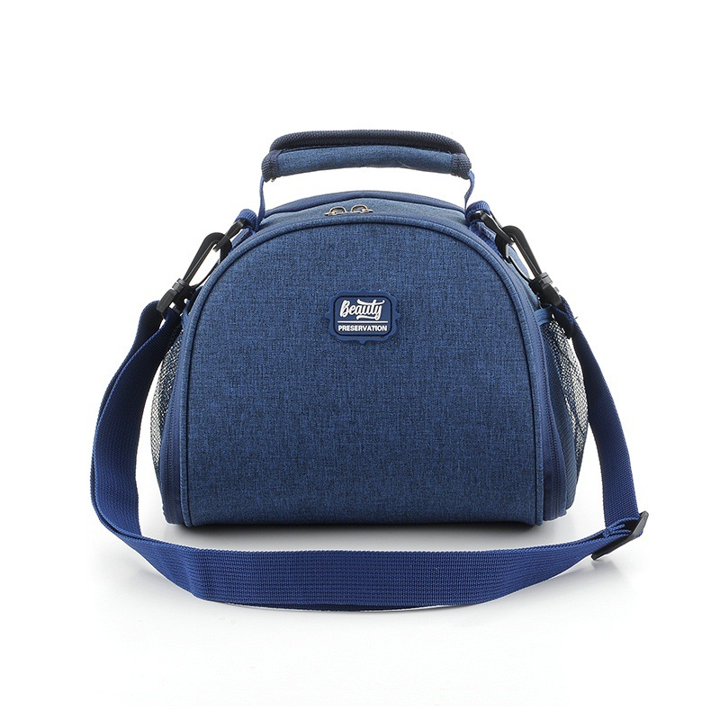 Portable Lunch Bag Thermal Insulated Lunch Box Tote Scrub Cooler Bag Bento Pouch Lunch Container Picnic Bento Storage Bags