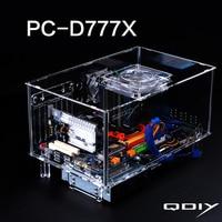 QDIY PC D777XM Horizontal MircoATX HTPC Acrylic Transparent Desktop PC Computer Case