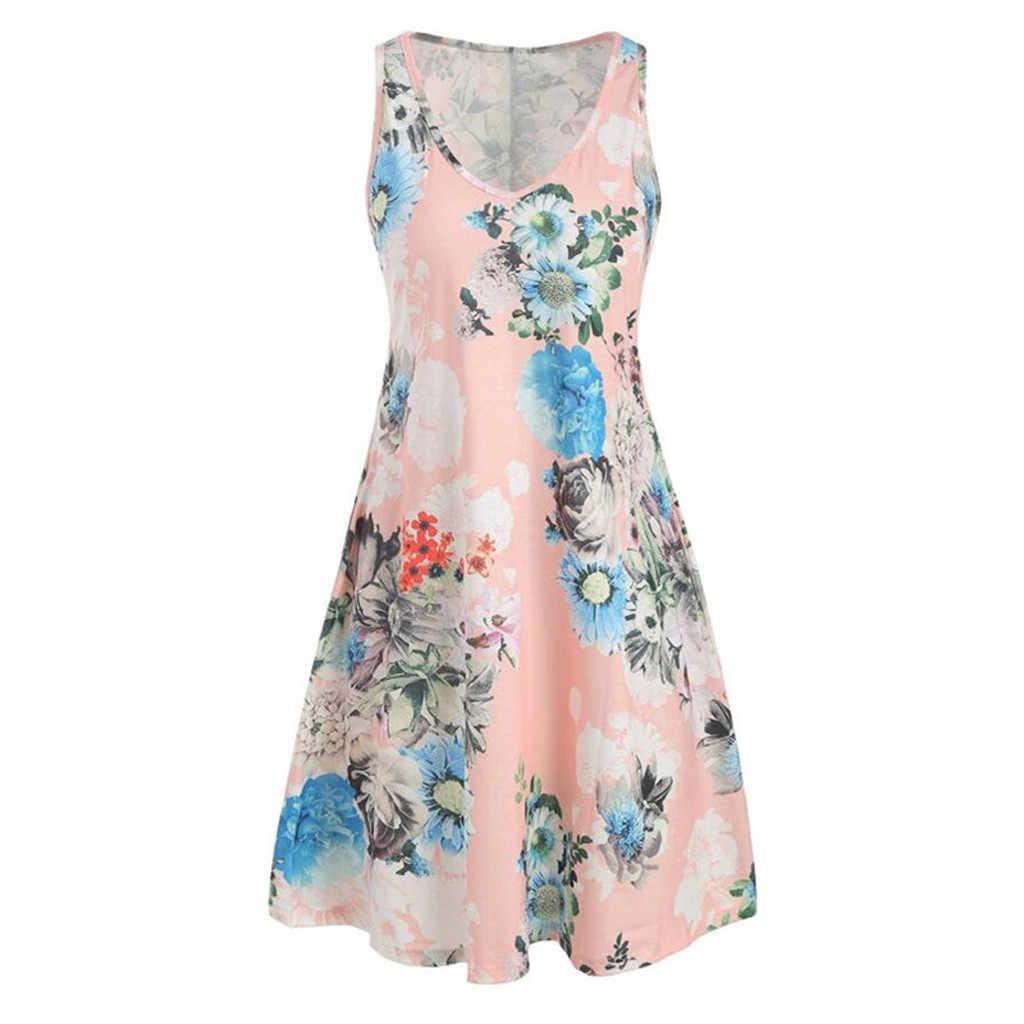 Lady's Vintage ฤดูใบไม้ผลิ Summe สตรีแฟชั่นเซ็กซี่ดอกไม้พิมพ์ O-คอสั้น Trim น่ารักหวาน