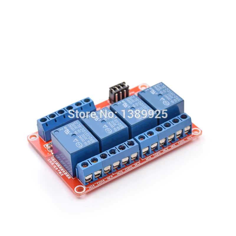 10pcs/lot 5V 4 Channel Relay Module With Opto Isolation Supports High And Low Level Trigger Optocoupler