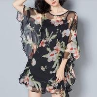2017 New Style Autumn Women Big Large Plus Size Elegant Sexy Evening Maxi Long Little Black