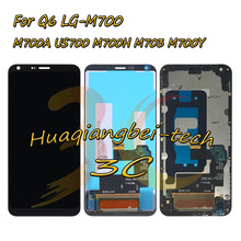 Хорошее 5.5 »Новый для LG Q6 LG-M700 M700 M700A US700 M700H M703 M700Y полный ЖК-дисплей дисплей + Сенсорный экран планшета Ассамблеи с рамкой
