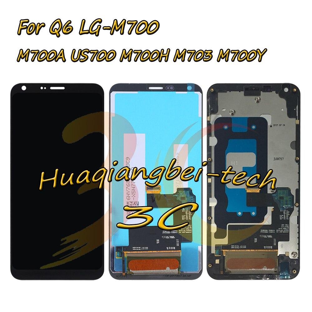 5.5 ''Nouvelle Pour LG Q6 LG-M700 M700 M700A US700 M700H M703 M700Y LCD Full DIsplay + Écran Tactile Digitizer Assemblée Avec Cadre