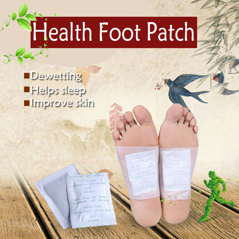 10Pcs/Bag Fashion Herbal Detox Foot Pads Patches Feet Care Medical Plaster Foot Remover Relieving Pain Foot Massager