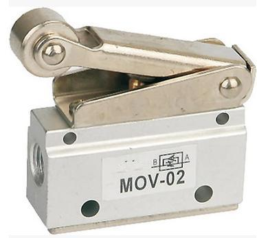 free shipping 1pc  Roller Lever Mechanical Valve 1/8 Thread, Pneumatic MOV - 02 Hand Control Air Valve ,3 way 2 position вяжем для мужчин джемпер жакет жилет спицы