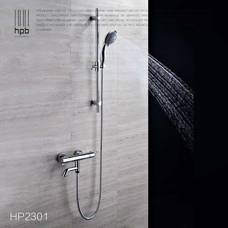 Bathroom Thermostatic Lifting Shower Set Solid Brass Chrome Finish Wall Mounted Shower Faucet with with Hand Shower Spout thermostatic bathroom shower faucet solid brass bathtub mixer tap chrome finish wall mounted