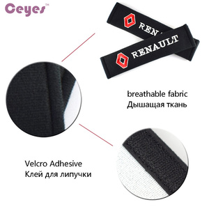 Image 5 - Car Styling Seat Belt Cover Case For Renault Megane 2 Duster Logan Captur Clio Laguna 3 Fluence Cotton Accessories Car Styling
