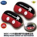 Acessórios do carro de mickey mouse dos desenhos animados assento de carro encostos de cabeça (1 Par) WDC-112 frete grátis