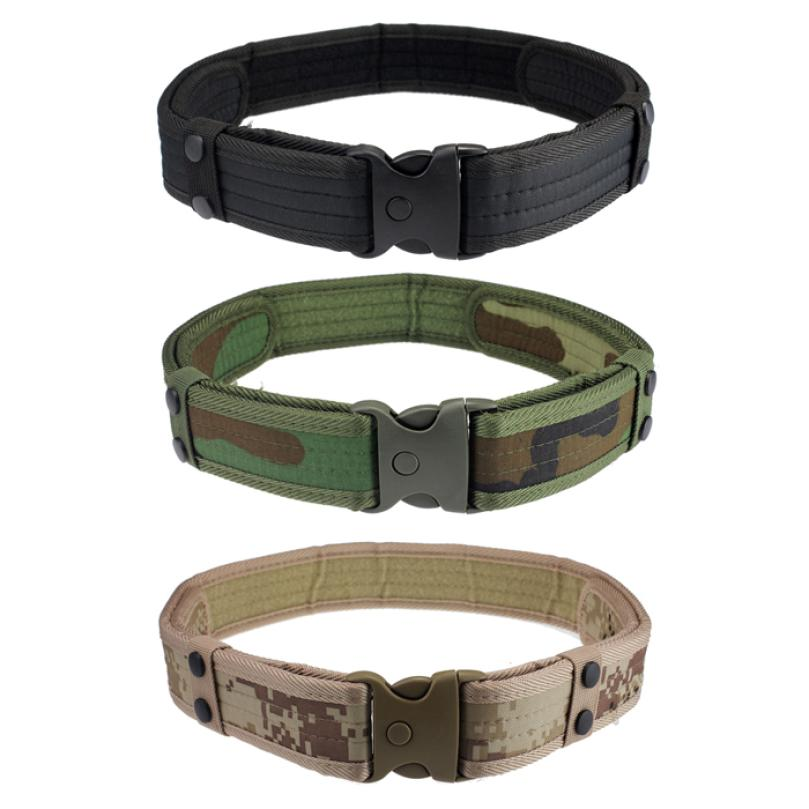 High Quality Men Belts Luxury New Woodland Camo Waistband Tactical Designer Belts Hunting Accessories