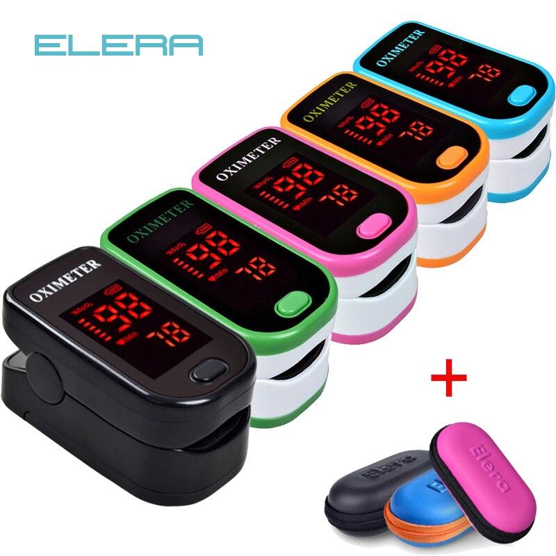 Neue!! Finger-pulsoximeter Mit Fall Fingertip Oximetro de pulso de dedo LED Pulsoximeter Saturator Pulsioximetro
