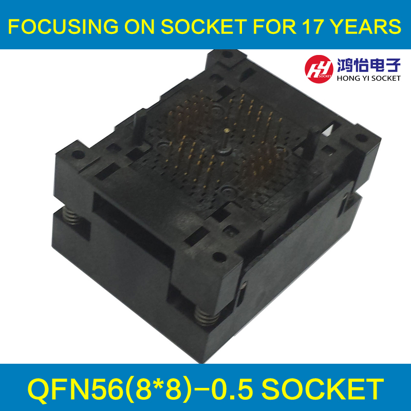 QFN56 MLF56 WLCSP56 Burn in Socket Adapter Pin Pitch 0.5mm IC Body Size 8x8mm NP506-056-027-C-G Open Top Test Socket qfp176 tqfp176 lqfp176 burn in socket pitch 0 5mm ic body size 24x24mm otq 176 0 5 06 test socket adapter