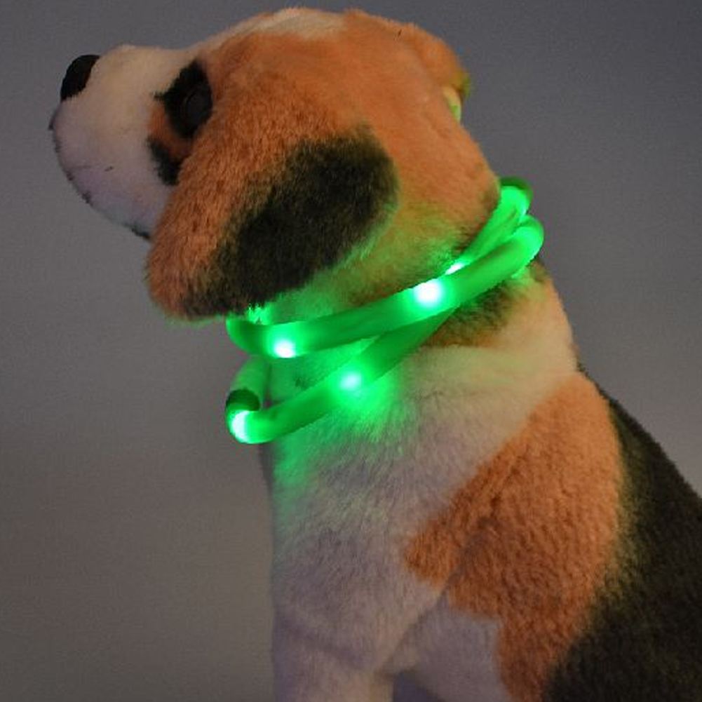 Со светодиодной подсветкой ошейник Pet Ночь Детская безопасность мигает в темноте собака Средства ухода за кожей Шеи Кольцо щенок Товары для...