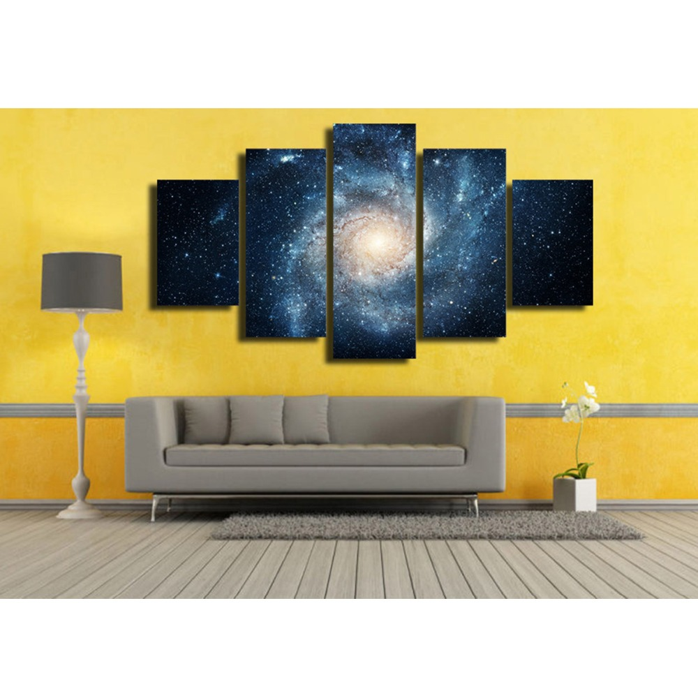 Blue Star Space canvas wall art abstract print home decor for living ...