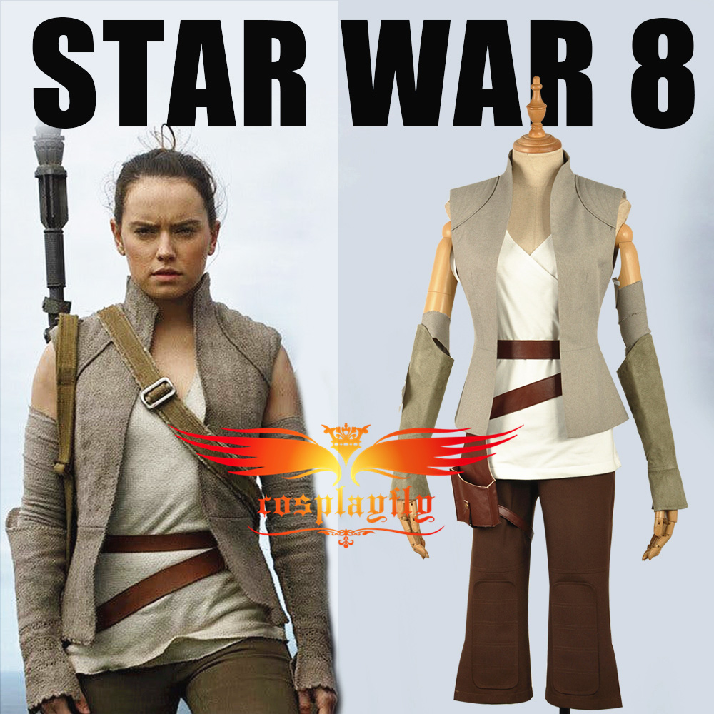 2017 Star Wars: The Last Jedi Rey Battleframe Cosplay Costume Outfit Clothing For Adult Women W1234