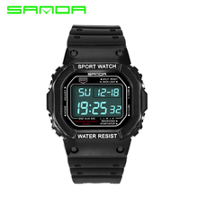 2019 New SANDA Brand Men Led digital Military Watch 50M Waterproof Dive Swim Dress Sport Watches Fashion Outdoor Wristwatch все цены