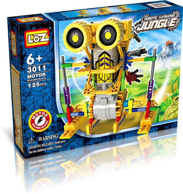LOZ Diamond Blocks Motor Building Blocks Toys Robot Juguetes Electric Assemblage Educational Children Gifts Boy Toys 3011 3018-in Blocks from Toys ...
