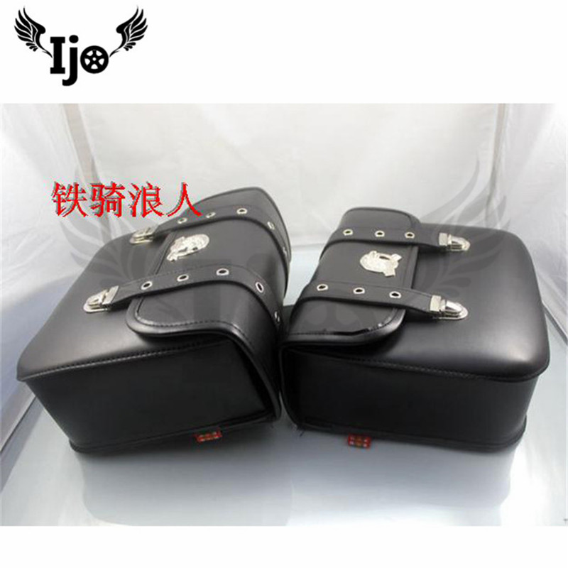 unviersal motorcycle accessories saddle bag retro for Vespa benelli harley softail maletas moto backpack mochila moto saddlebag