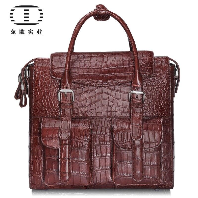 Crocodile bag factory leather goods men business briefcase casual single shoulder bag handbag fengge crocodile leather single shoulder bag man cross section diagonal cross men bag crocodile leather casual crocodile bag