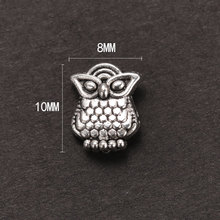 Free shipping (20 pieces /lot) Tibetan Silver Owl Spacer Bead 10x8mm jewelry findings for jewelry making diy