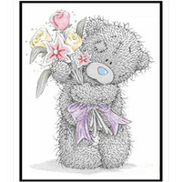 Bear Diamond Embroidery Cartoon Doll Sequins Embroidery Pattern DIY Picture Of Rhinestone Hobby Needlework Embroidery Decoration