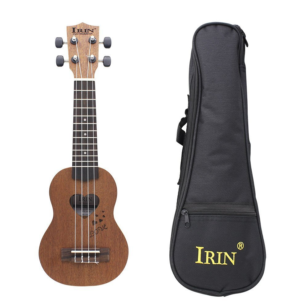 IRIN 17 Mini Ukelele Spruce/Sapele Top Rosewood Fretboard Stringed Instrument 4 Strings Acoustic Bass Guitar With Gig Bag