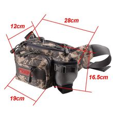Noeby Fishing Bag 28x19x12cm Canvas Waist Bag Fishing Tackle Lure Package Pesca Outdoor Equipment Bags