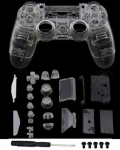 PS4 Full Housing V1 Controller Shell Case Cover Mod Kit buttons For Playstation 4 Dualshock 4 PS 4 Replacement Transparent Clear стоимость