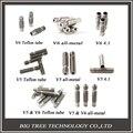 8 Тип! 3D Принтер критического сечения Сопла с Тефлоновым трубкой или Все металлические или 4.1 мм Через отверстие для 1.75 мм или 3.0 мм 3D V5 и 3D V6 J-Глава